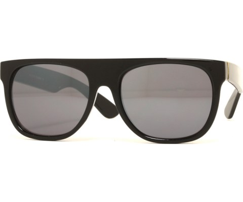 Mirrored Minimalist Sunglasses - Black/Mirror