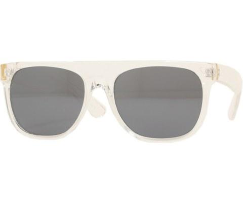 Mirrored Minimalist Sunglasses - Clear/Mirror