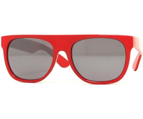 Mirrored Minimalist Sunglasses - Red/Mirror