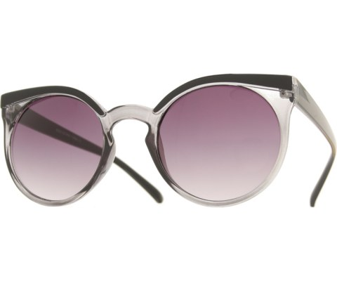Flair Eyebrow Sunglasses - Smoke/Smoke