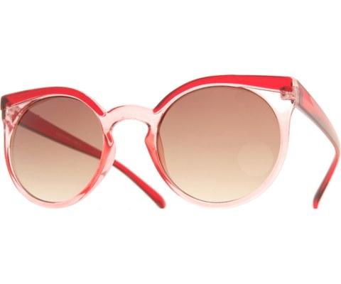 Flair Eyebrow Sunglasses - ClrRed/Brown