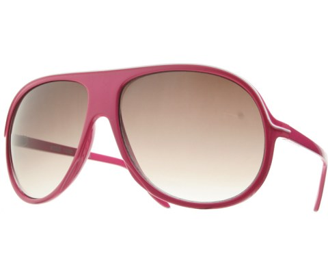 Lined Plastic Aviators - Pink/Smoke