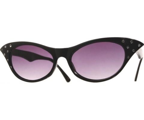 1950s Glasses - Black/Smoke
