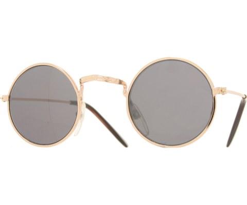 Kids Mirrored Round Sunglasses - Gold/Mirror