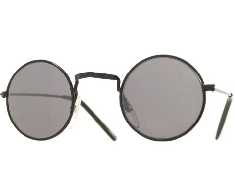 Kids Mirrored Round Sunglasses - Black/Mirror