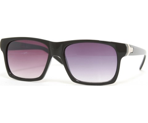 Smooth Thick Aviator Sunglasses  - Black/Smoke