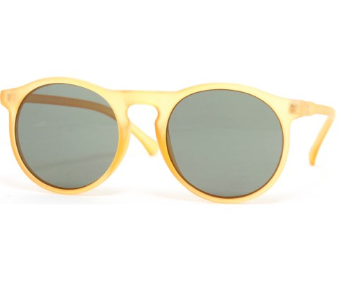 Round Frosted Sunglasses - Orange/Green