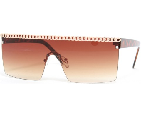 Gaga Chain Sunglasses - Tortoise/Brown