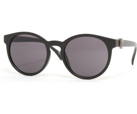 Round Skull Sunglasses - MatteBlack/Black