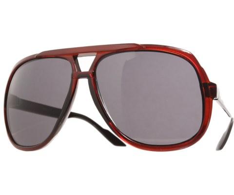 Firm Brow Aviator Sunglasses - Brown/Black
