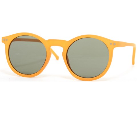 Round Keyhole Sunglasses - Orange/Black