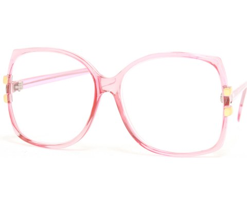 Oversized Vintage Perscription Glasses - Pink/+150