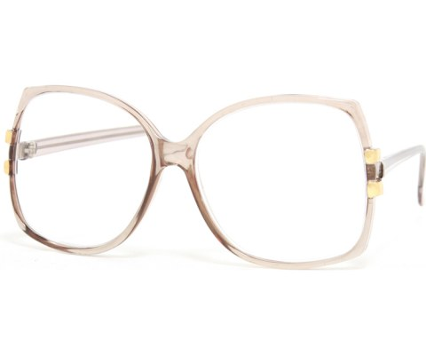 Oversized Vintage Perscription Glasses - Black/+225
