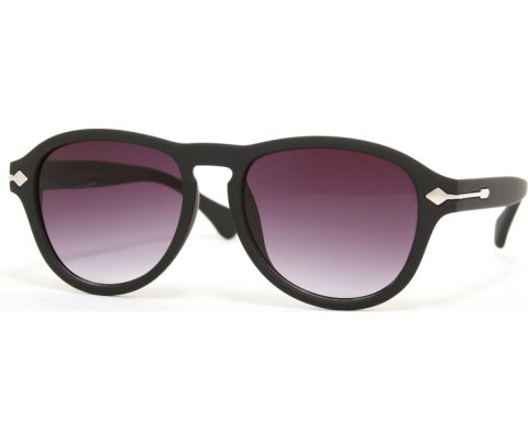 Side Arrow Aviators - MatteBlack/Smoke