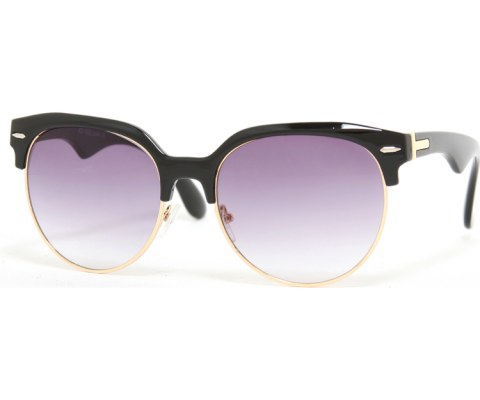 Top Thick Cool Sunglasses - BlackGold/Smoke