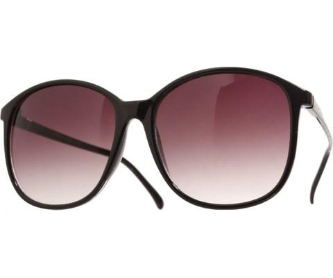 80s School Teacher Sunglasses - Black/Smoke