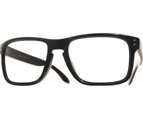 Side Bolted Reading Glasses - Black/Clear
