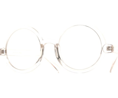 Clear Circle Glasses - Clear/Clear