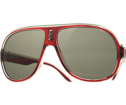 Plastic Aviator Sunglasses - BurgClrGrn/Smo