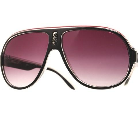 Plastic Aviator Sunglasses - BlkClrRd/Smo