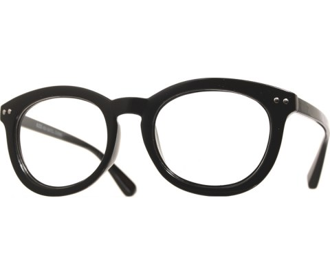 Double Studded Reading Glasses - Black/Clear
