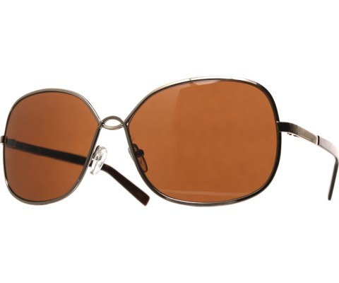 Metal U Sunglasses - Gold/Brown