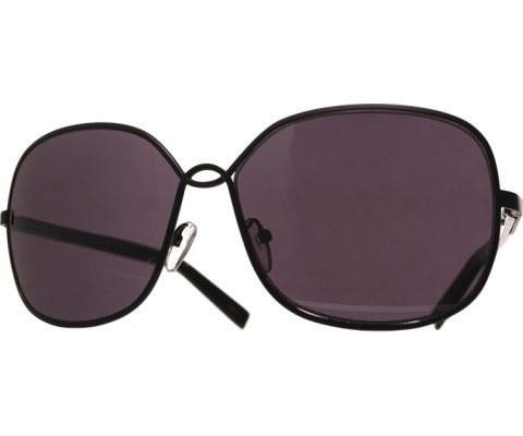 Metal U Sunglasses - Silver/Blk/Brn