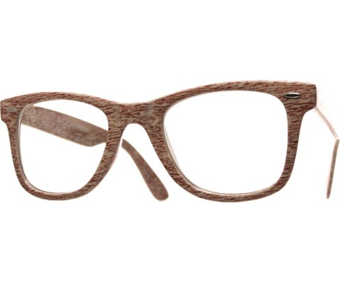 Wood Grain Cool Glasses - Tan/Red