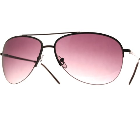 Metal Aviator Sunglasses - Blk/Purple