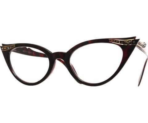 Vintage 50s Receptionist Glasses - Tortoise/Clr