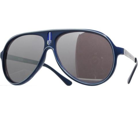 Vintage Mirrored Lined Sunglasses - Blue/Mirror