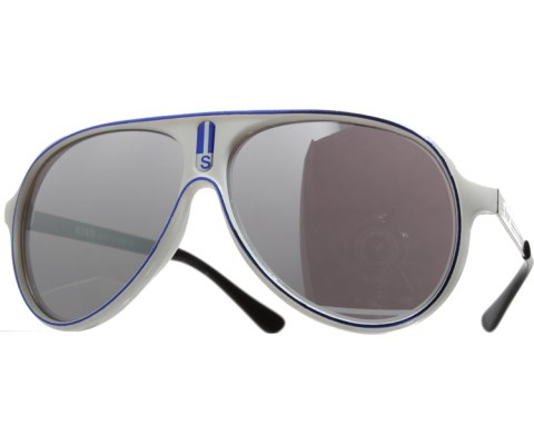 Vintage Mirrored Lined Sunglasses - White/Mirror