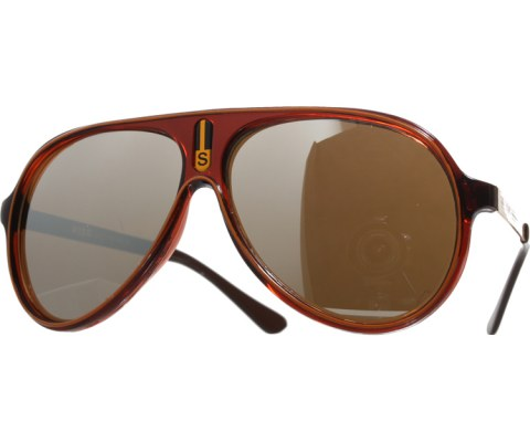 Vintage Mirrored Lined Sunglasses - Brown/Mirror