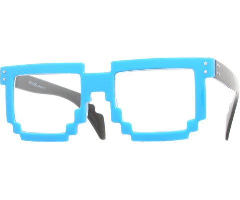 Digital Byte Clear Glasses - Blue/Clear