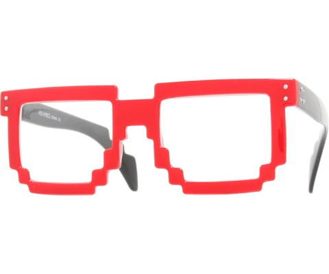Digital Byte Clear Glasses - Red/Clear