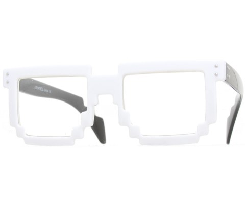 Digital Byte Clear Glasses - White/Clear