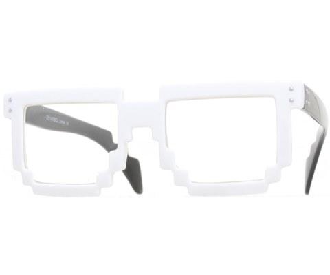 Digital Byte Clear Glasses - White/Clear