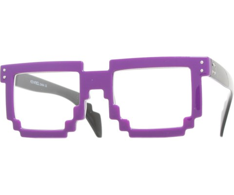 Digital Byte Clear Glasses - Purple/Clear