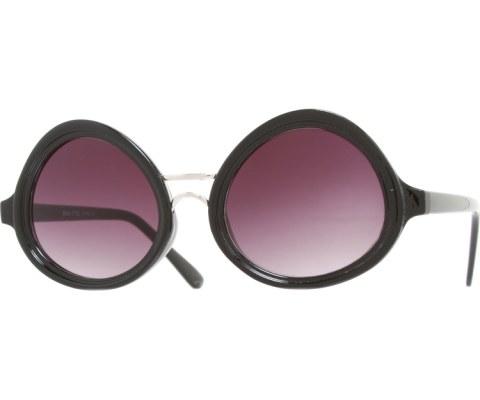 Oval Spec Sunglasses - Black/Smoke