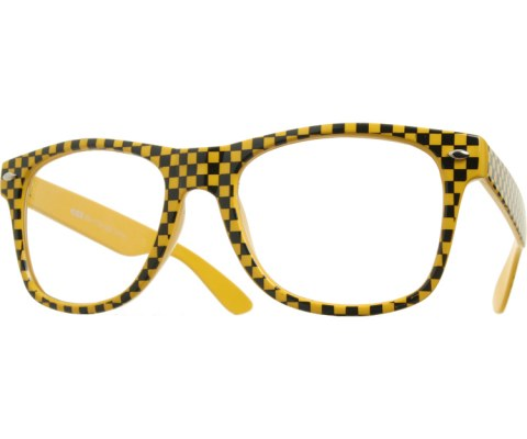 Clear Checkered Cool (GITD) - Yellow/Clear