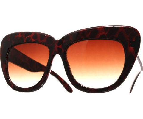 Oversized High Brow Sunglasses - Tortoise/Brown