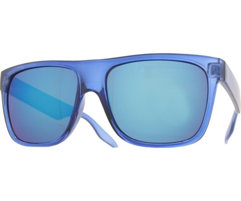 Frosted and Crystal Sunglasses - Blue/Blue