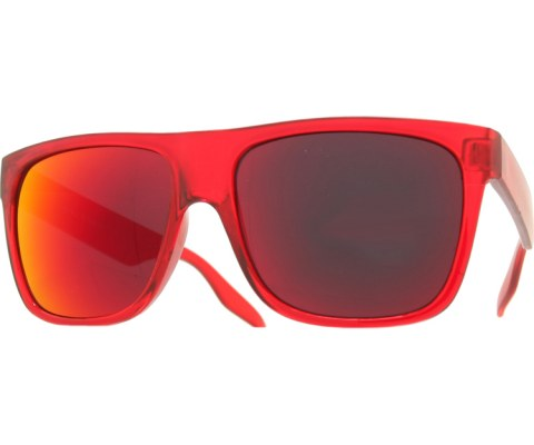 Frosted and Crystal Sunglasses - Red/Red