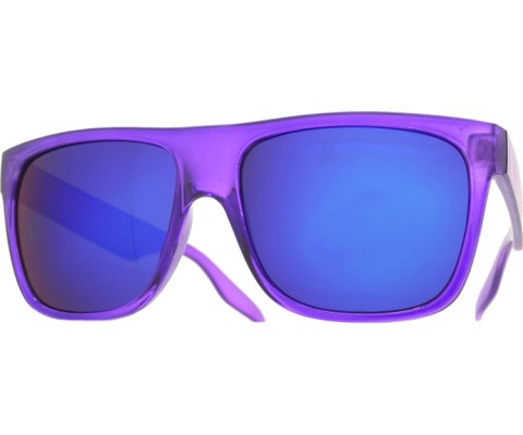 Frosted and Crystal Sunglasses - Purple/Blue