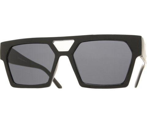 Squared Chunky Sunglasses - Black/SuperDark