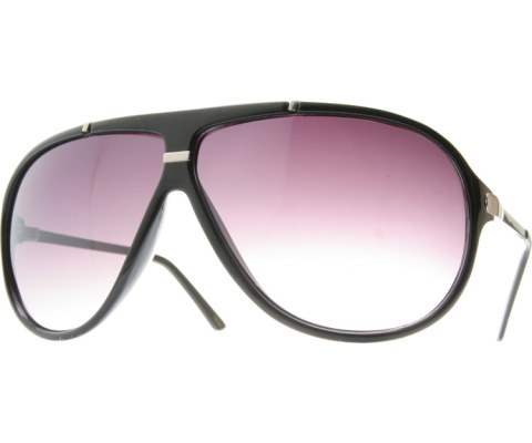 Aviator Metal Accents - BlkSlvr/Smoke