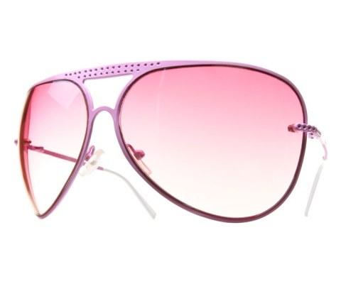 Perforated Metal Aviators - Pink/Pink