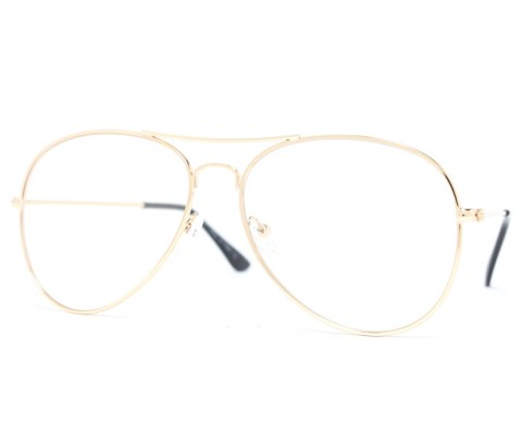 Wholesale Clear Metal Aviators Sunglasses (12pcs Dozen)