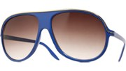 Thin Gold Lined Aviators - Blue/Smoke