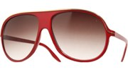Thin Gold Lined Aviators - Red/Smoke